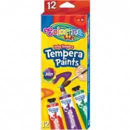 Farby tempera w tubach 12 ml 12 kolorów Patio Colorino 68420