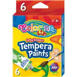 Farby tempera w tubach 12 ml 6 kolorów Patio Colorino 68390