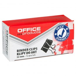 Klipy do dokumentów OFFICE PRODUCTS 32 mm 12 szt. czarne