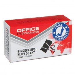 Klipy do dokumentów OFFICE PRODUCTS 25 mm 12 szt. czarne
