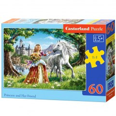 Puzzle 60 elementów - Princess and Her Friend