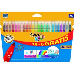 Flamastry Bic Kids Kid Couleur 24 kolory