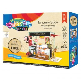 Zestaw Miniaturowy Domek Ice Cream Station Patio Colorino 37251