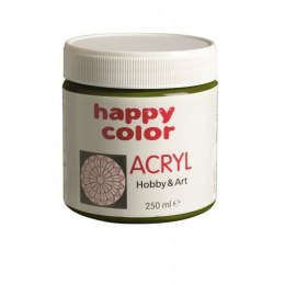 Farba akrylowa 250 ml Happy Color ciemnooliwkowa