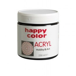Farba akrylowa 250 ml Happy Color czarna