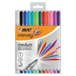 Cienkopis Bic Intenstity Medium mix - 12 szt