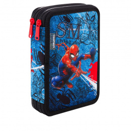 Piórnik podwójny z wyposaż. Patio Coolpack Jumper XL (B77304) Spider-man Denim