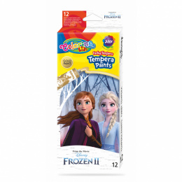 "Farby tempera w tubach ""Frozen"" 12 ml 12 kolorów Patio Colorino 91062PTR"
